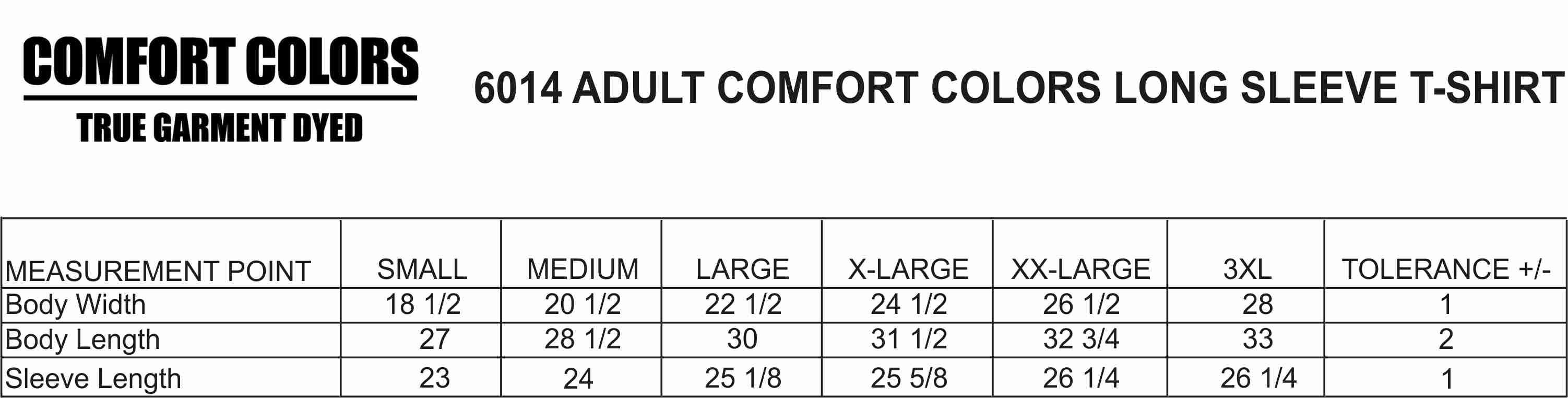 Comfort Colors Long Sleeve Shirt (6014/3483) | Moonlight Threads